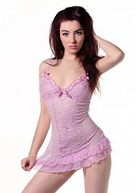Babydoll & String - Pink