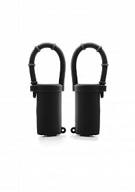 Vibrating Nipple Belts - Black