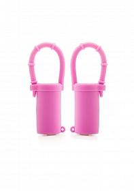 Vibrating Nipple Belts - Pink