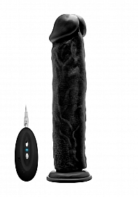 "Vibrating Realistic Cock - 11"" - Black"