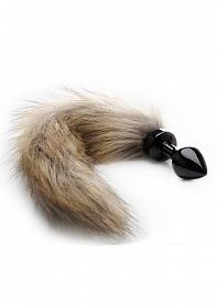 Fox Tail Buttplug - Black