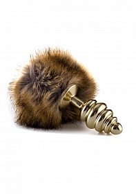 Extra Feel Bunny Tail Buttplug - Gold