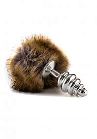 Extra Feel Bunny Tail Buttplug - Silver