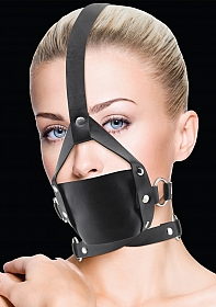 Leather Mouth Gag - Black