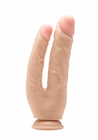 Realistic Double Cock - 10 Inch - Skin
