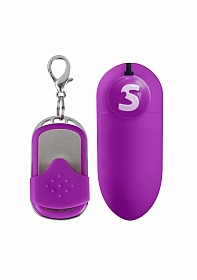 ADORA rechargeable remote control vibrating egg - Purple