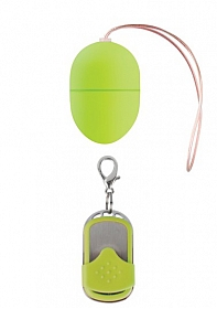 10 Speed Remote Vibrating Egg - Small - Green