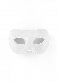 Eye Mask - Suede - White