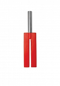 Leather Slit Paddle - Red