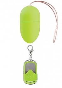 10 Speed Remote Vibrating Egg - Medium - Green