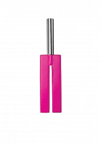 Leather Slit Paddle - Pink