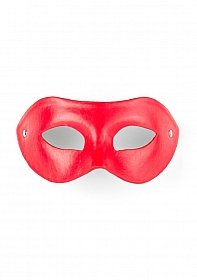Eye Mask - PVC/Imitation Leather - Red