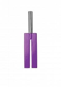 Leather Slit Paddle - Purple