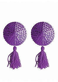 Nipple Tassels - Round - Purple