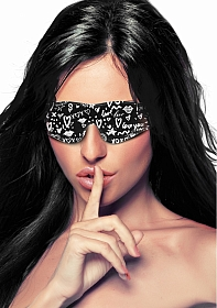 Printed Eye Mask - Love Street Art Fasion - Black