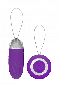 Ethan - Rechargeable Remote Control Vibrating Egg - Purple